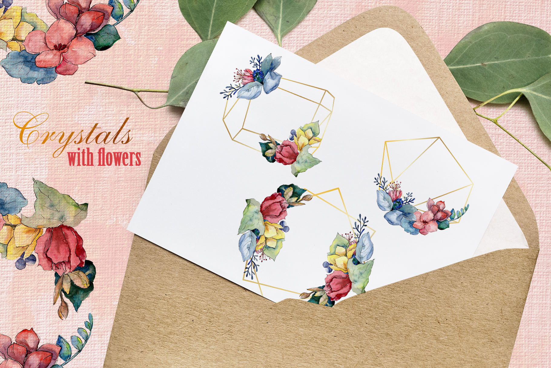 Bouquet gifts of nature watercolor png example image 4