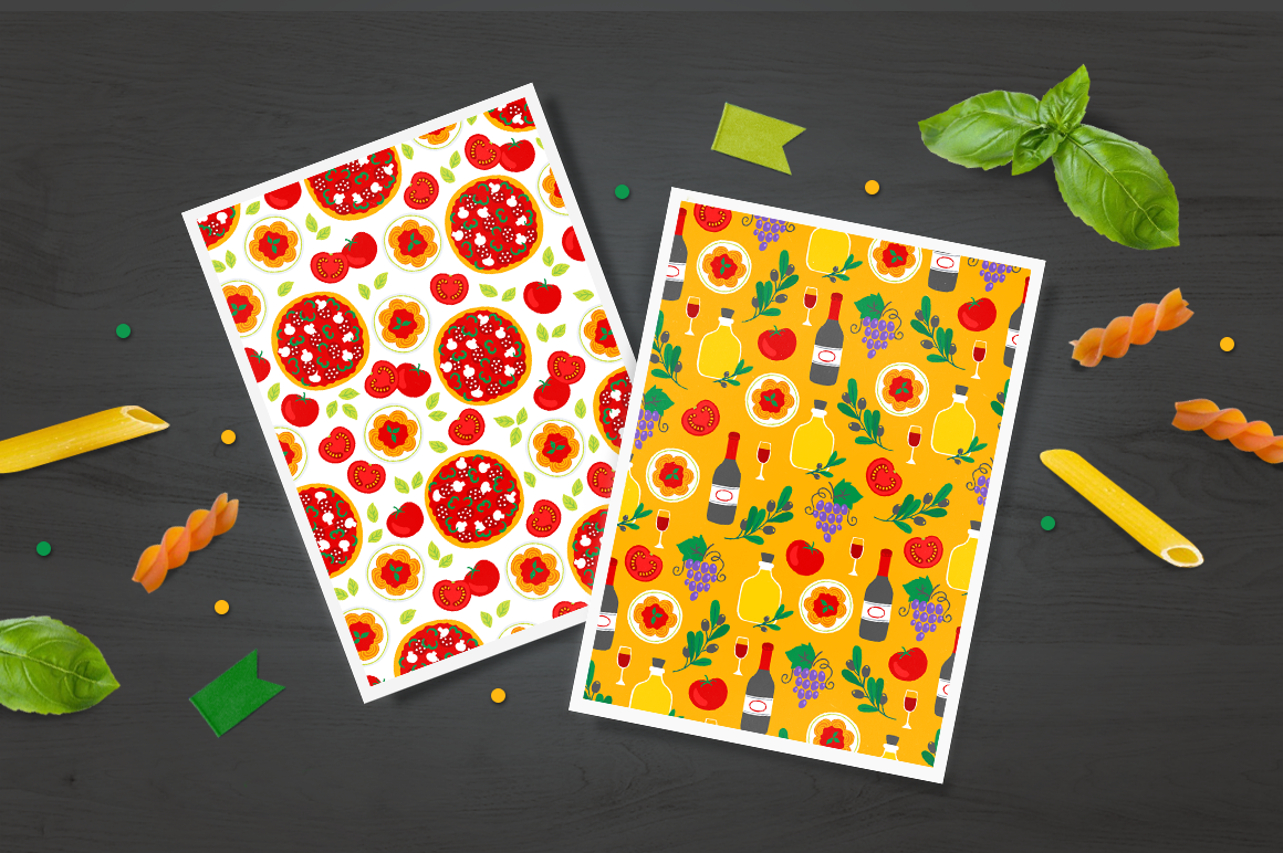 12 Italy Seamless Patterns example image 4