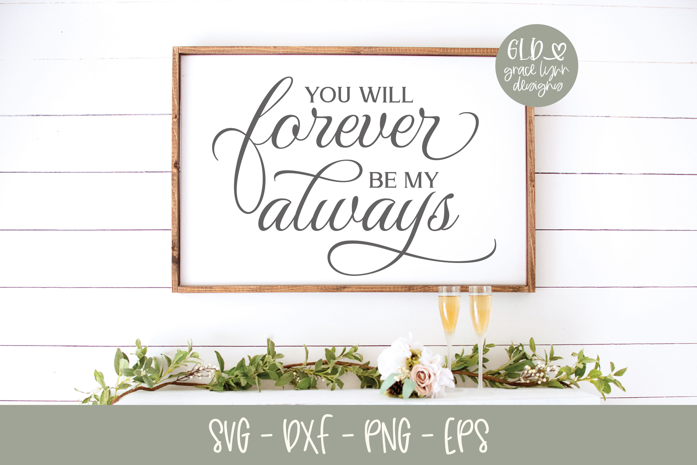 You will forever be my always - Wedding SVG example image 1