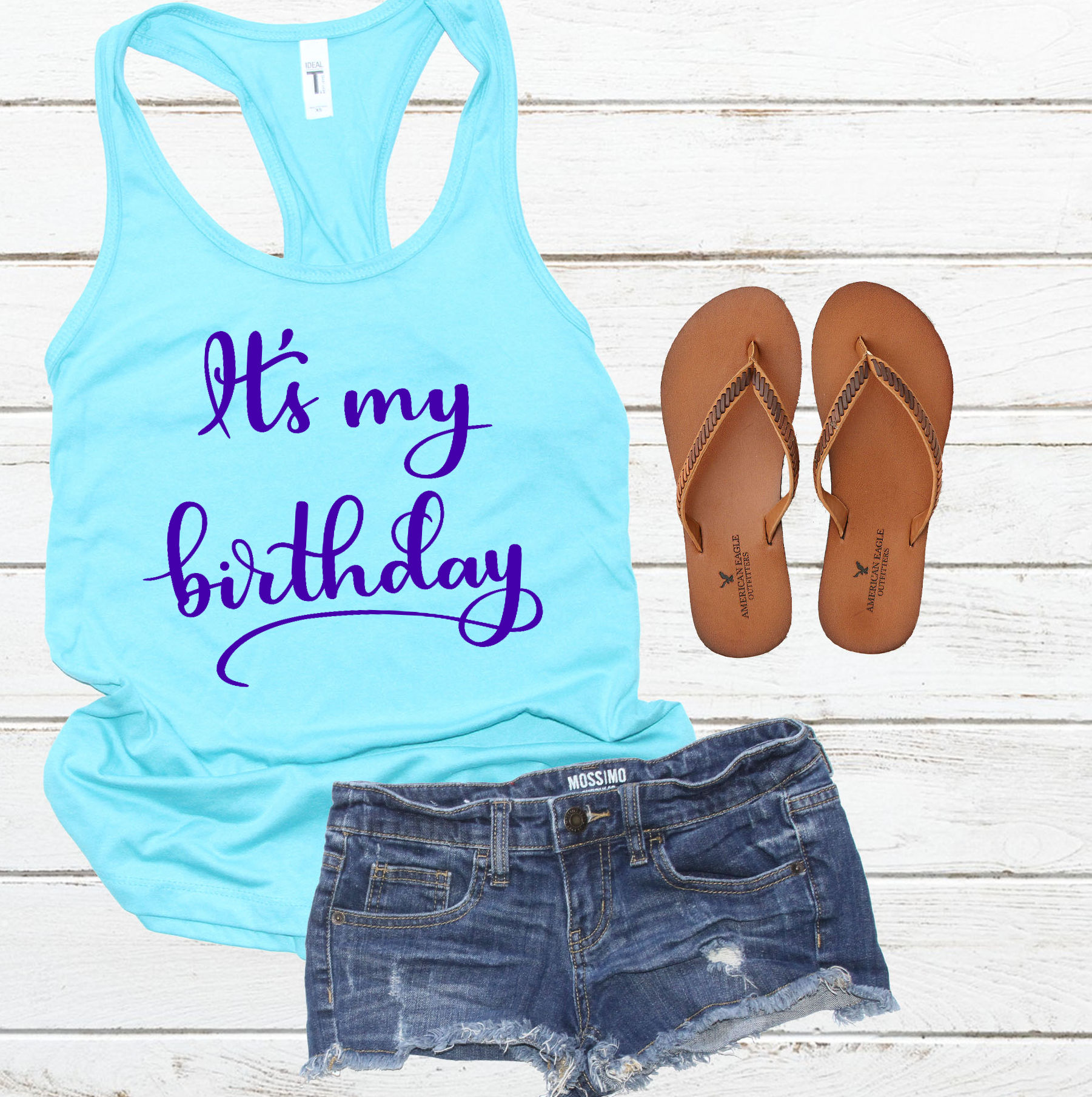 Birthday SVG - It's my birthday cut file, Handlettered example image 2
