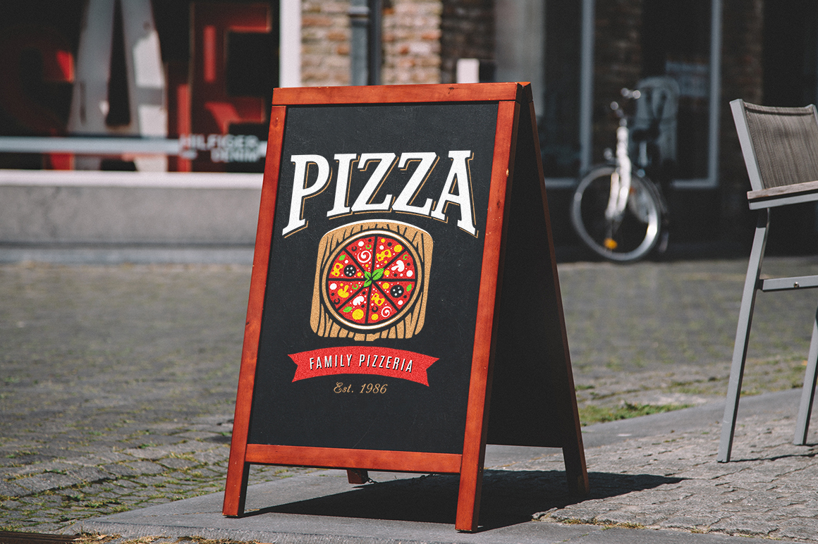 Pizza Logo Templates example image 9
