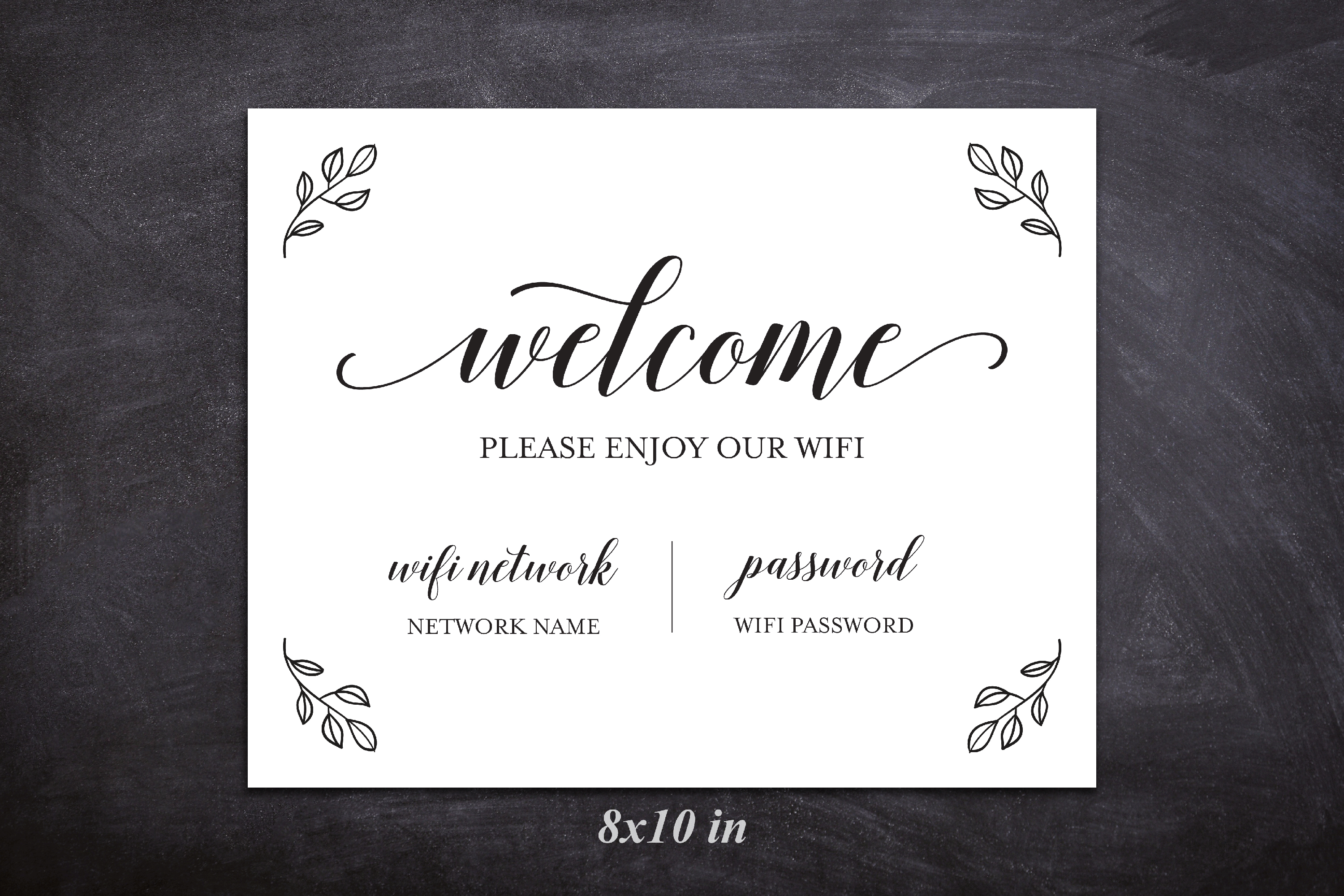 Wifi Password Printable, Wifi Sign Template, Welcome Guest example image 4