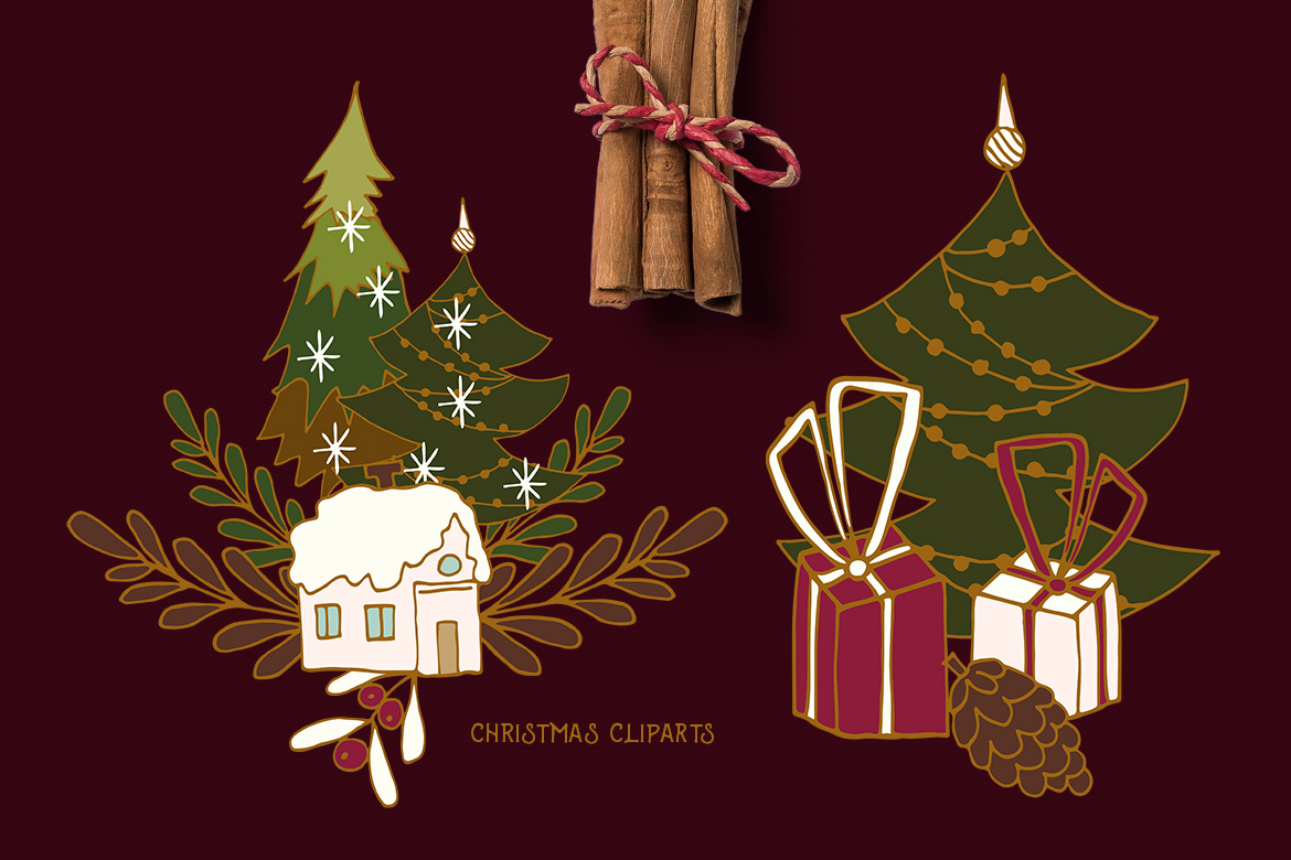 Christmas Cliparts example image 2