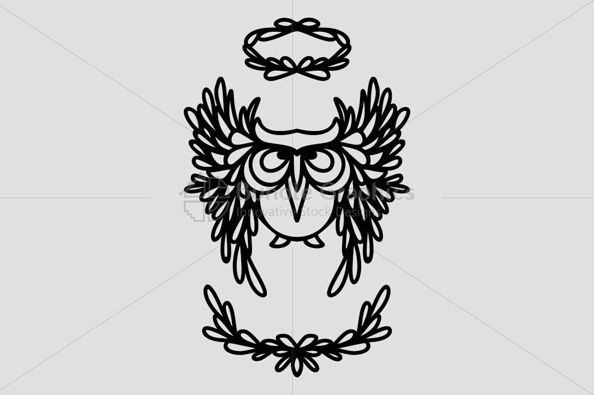 Angel Owl - Creative Graphic of Bird example image 2