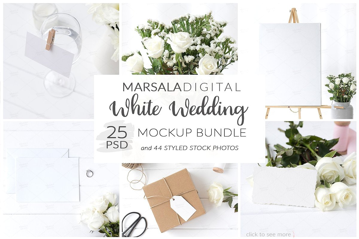 Wedding Mockup Bundle 400 Massive Wedding Mockups Bundle example image 2