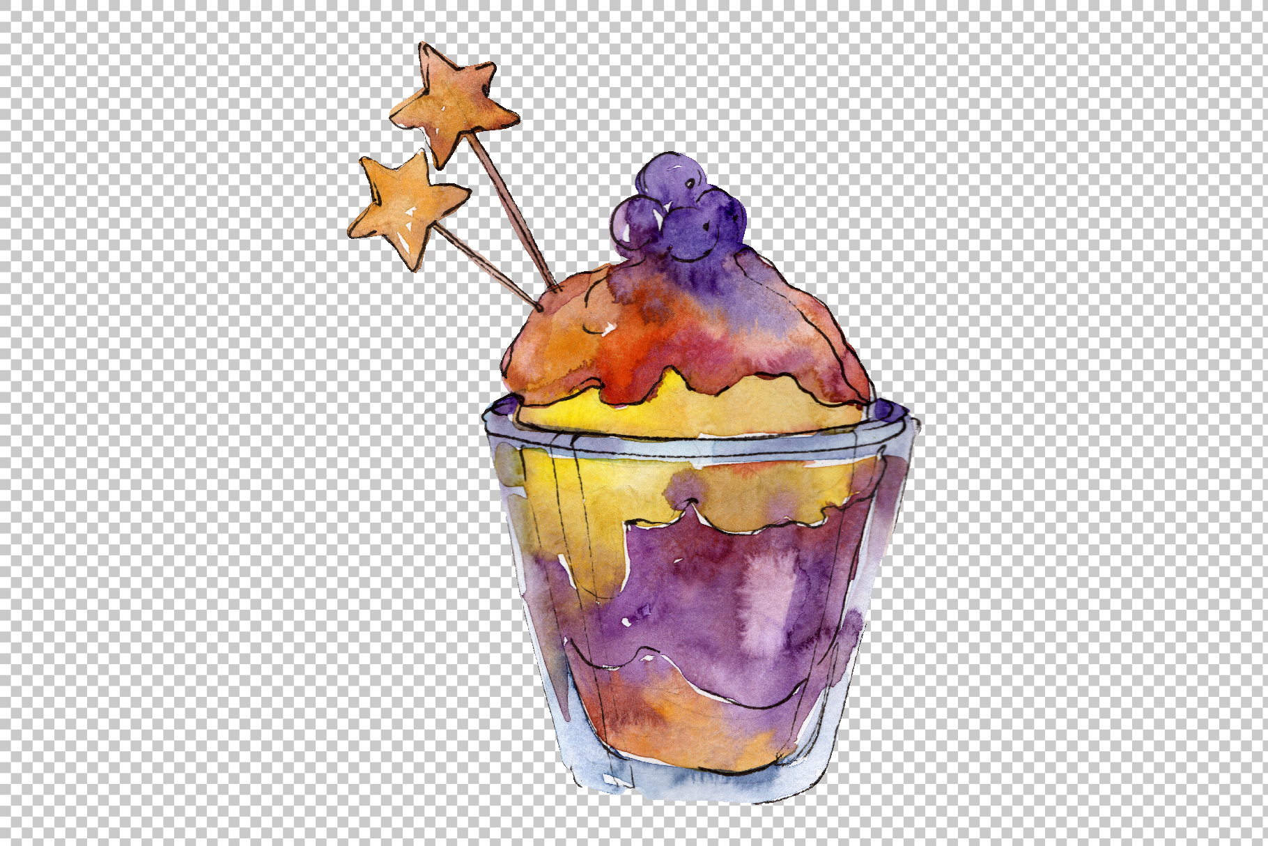 Spring dessert Watercolor png example image 4