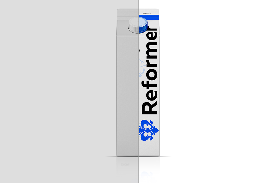 Mockup Package carton TETRA PAK REX 1000ML example image 2