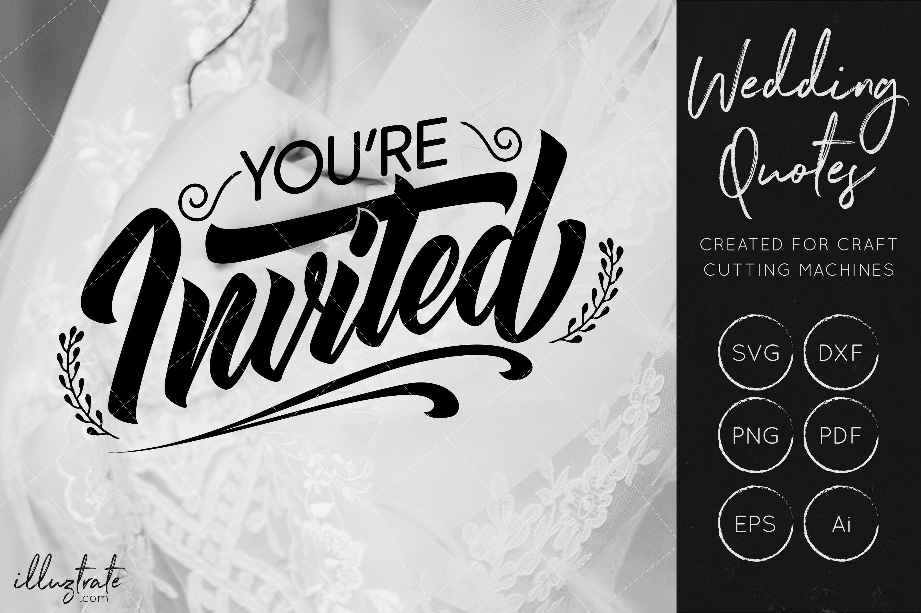 Wedding SVG Cut Files Bundle - Wedding Quotes - Wedding SVG example image 3