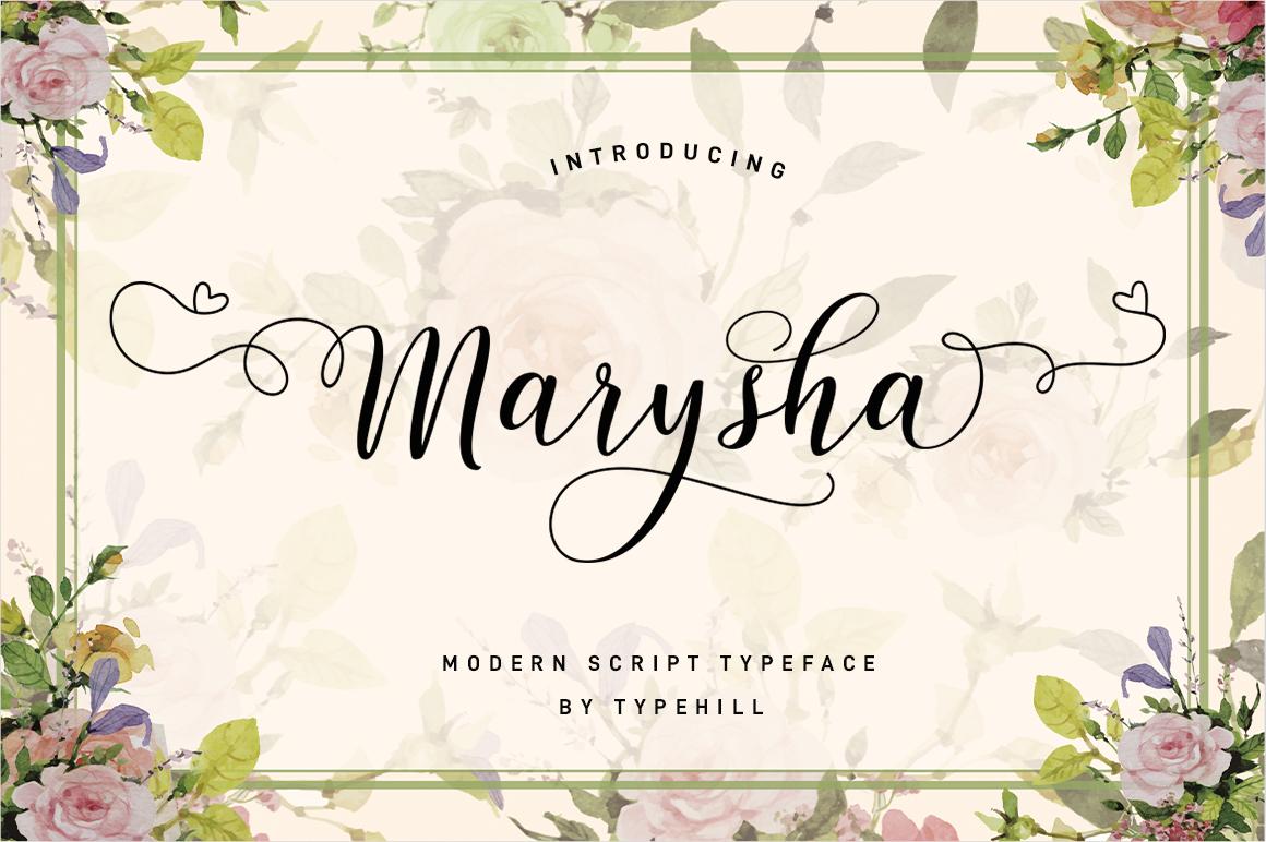 Marysha Script example image 2