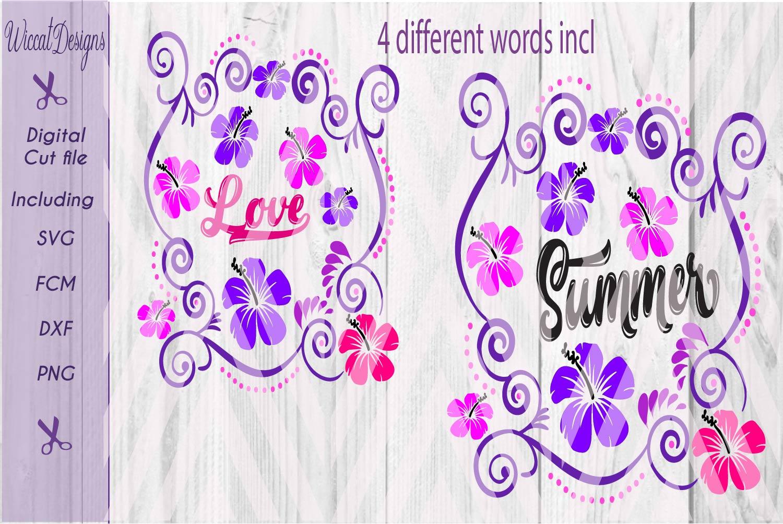 Summer cut file, flowers svg, Bag svg, pillow svg, girls , cut file designs example image 2