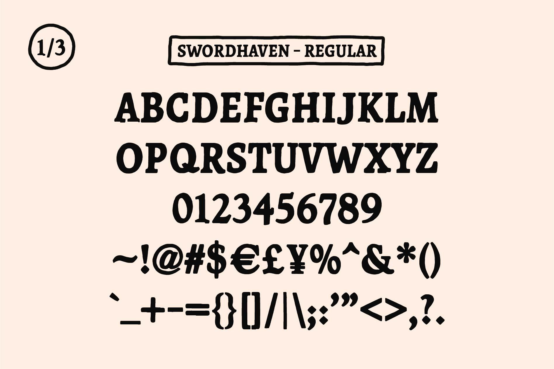 SWORDHAVENEN Font example image 3