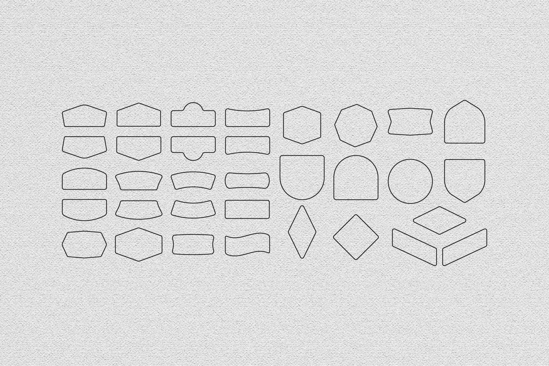 66 Basic Vintage Shape for Procreate example image 3