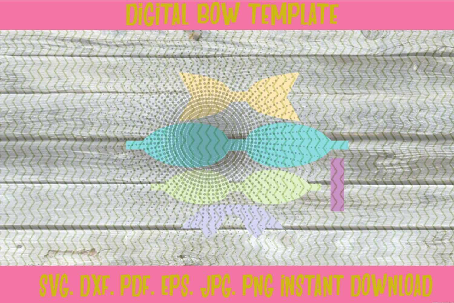 3D Stacked Hair Bow Template example image 3