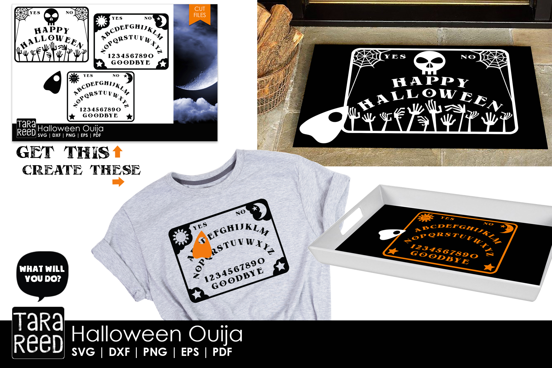 Halloween Ouija - Halloween SVG and Cut Files for Crafters example image 2
