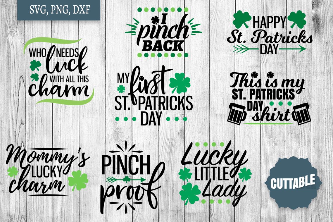 St Patrick's day SVG bundle, St Paddy's day cut file quotes example image 2