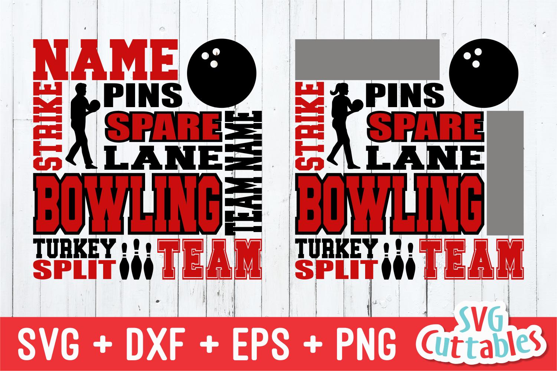 Bowling svg, Bowling Subway Art svg cut file example image 1