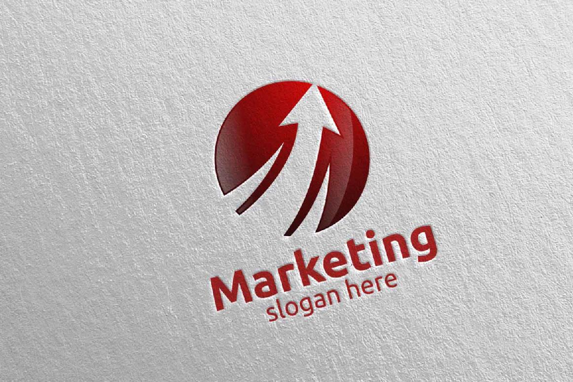 Marketing Financial Advisor Logo Design 27 example image 3