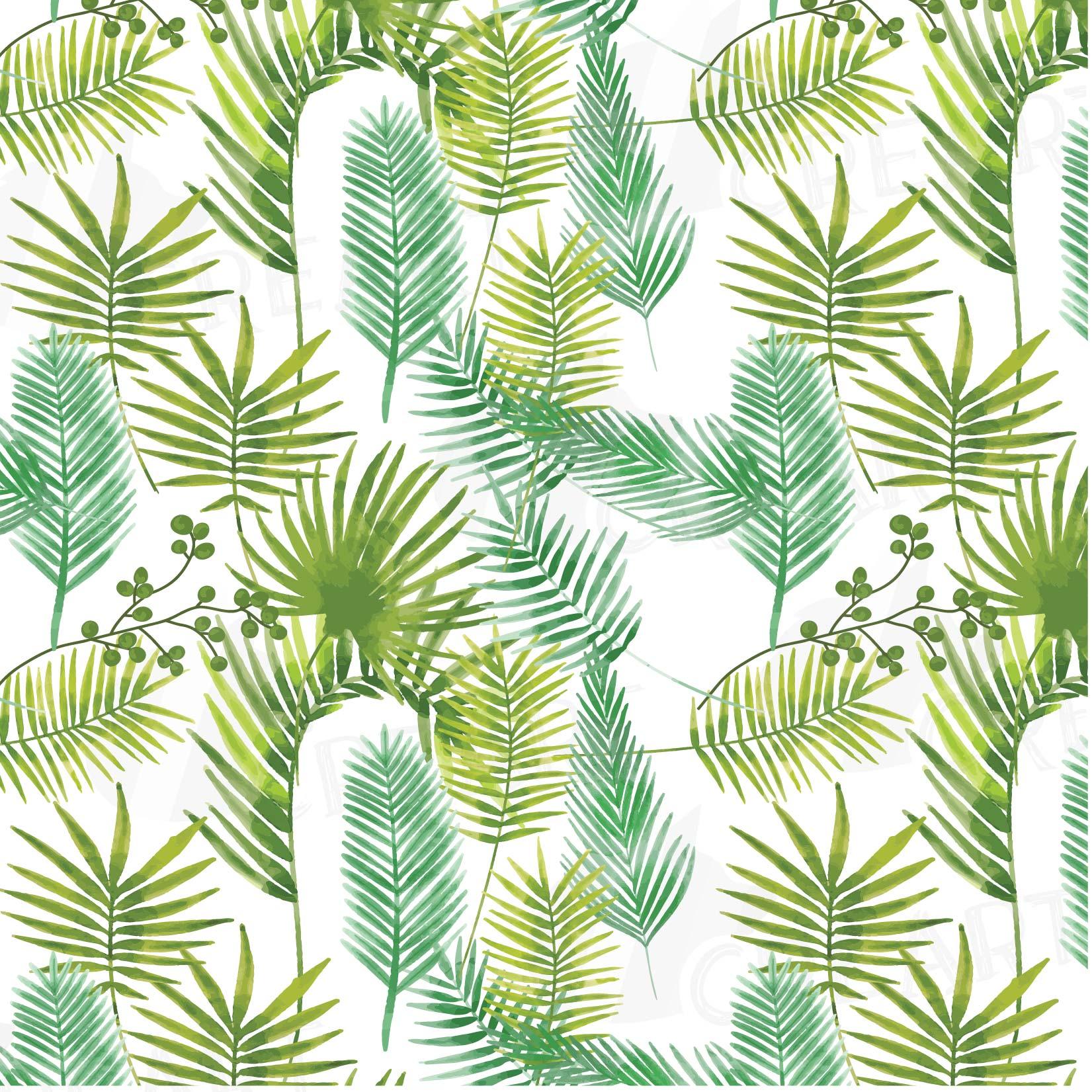 Palm Leaf Pattern Tropical Leaves Digital Paper Digital