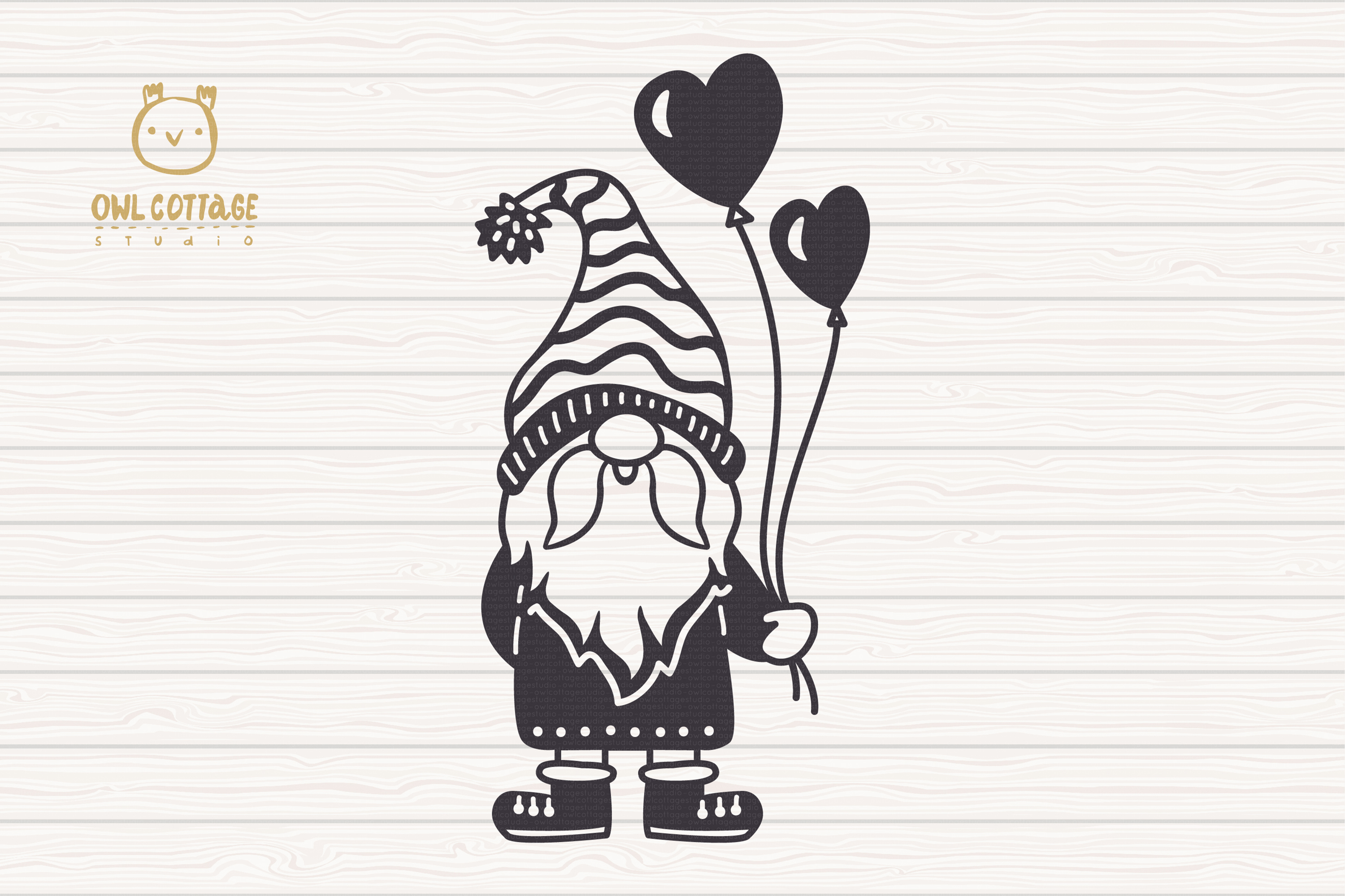 Valentine Gnomes, Gnome Holding Heart Svg, Valentine's Day S example image 3