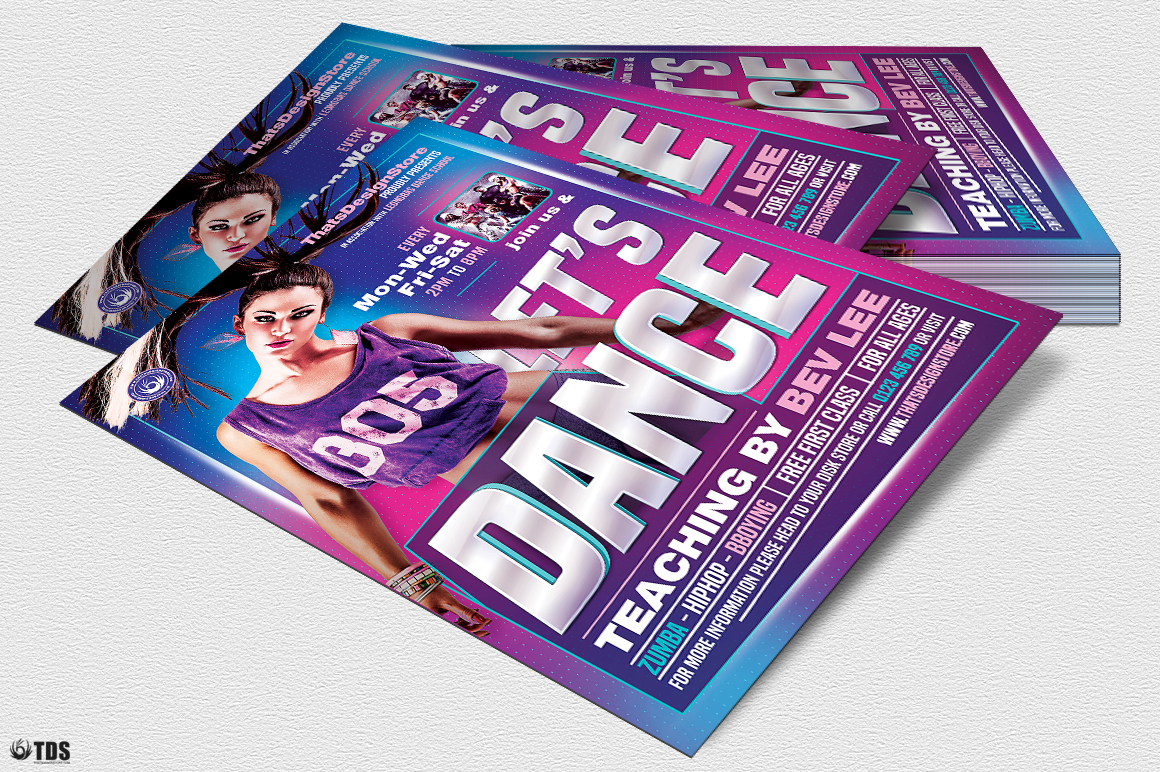 Dance Classes Flyer Template V1 example image 4