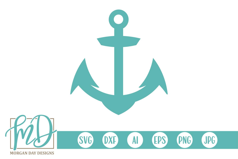 Anchor - Nautical SVG, DXF, AI, EPS, PNG, JPEG example image 1
