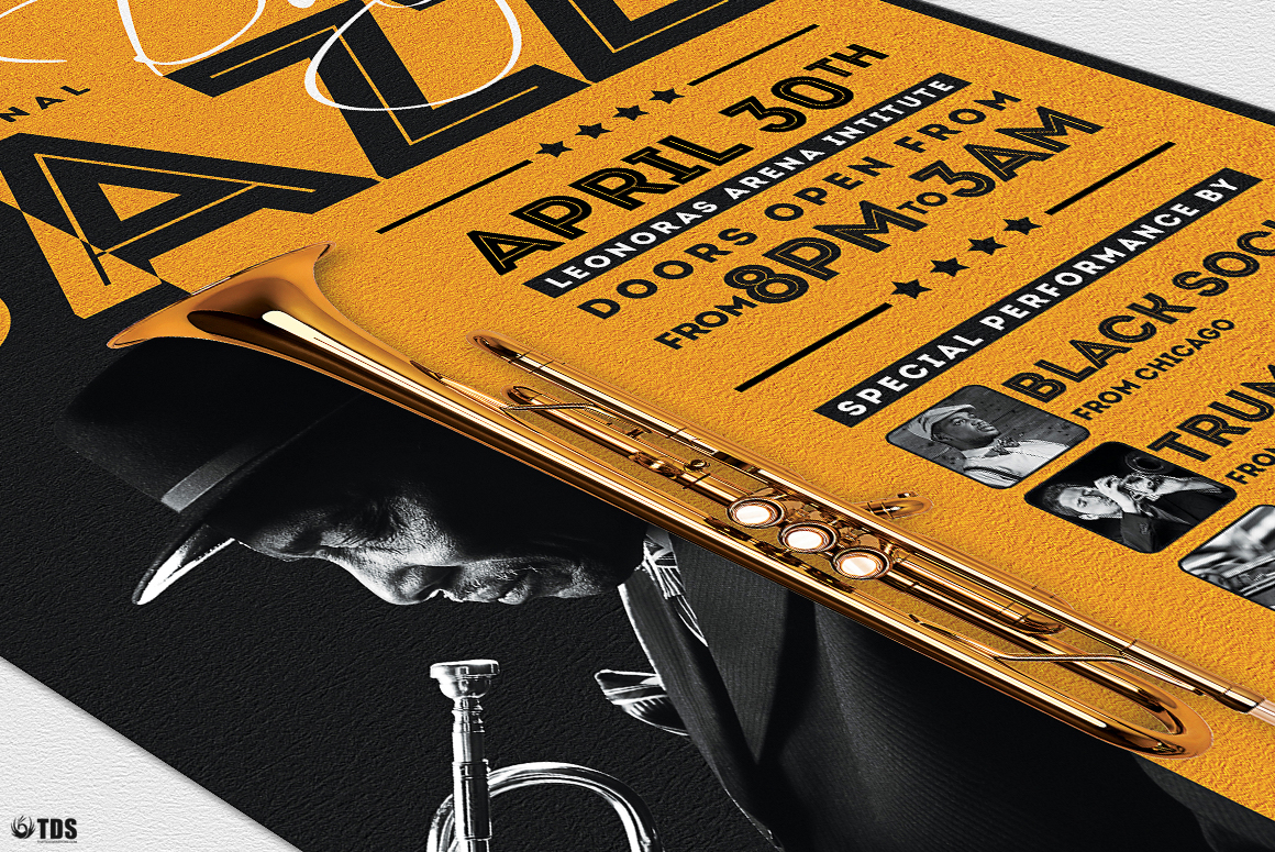 Jazz Day Flyer Template V1 example image 6