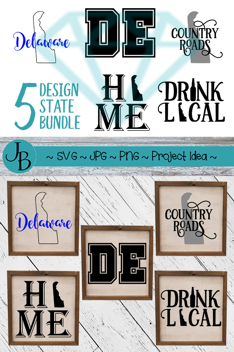 Delaware State Pride Bundle, DE SVG Bundle example image 2