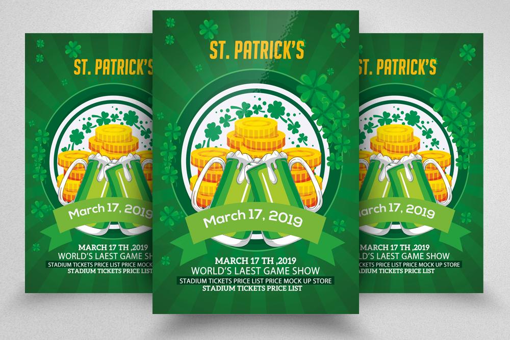 4 St. Patrick Flyers Bundle example image 3