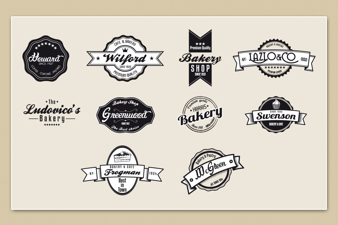 Bakery & Pastry Vintage logo example image 4