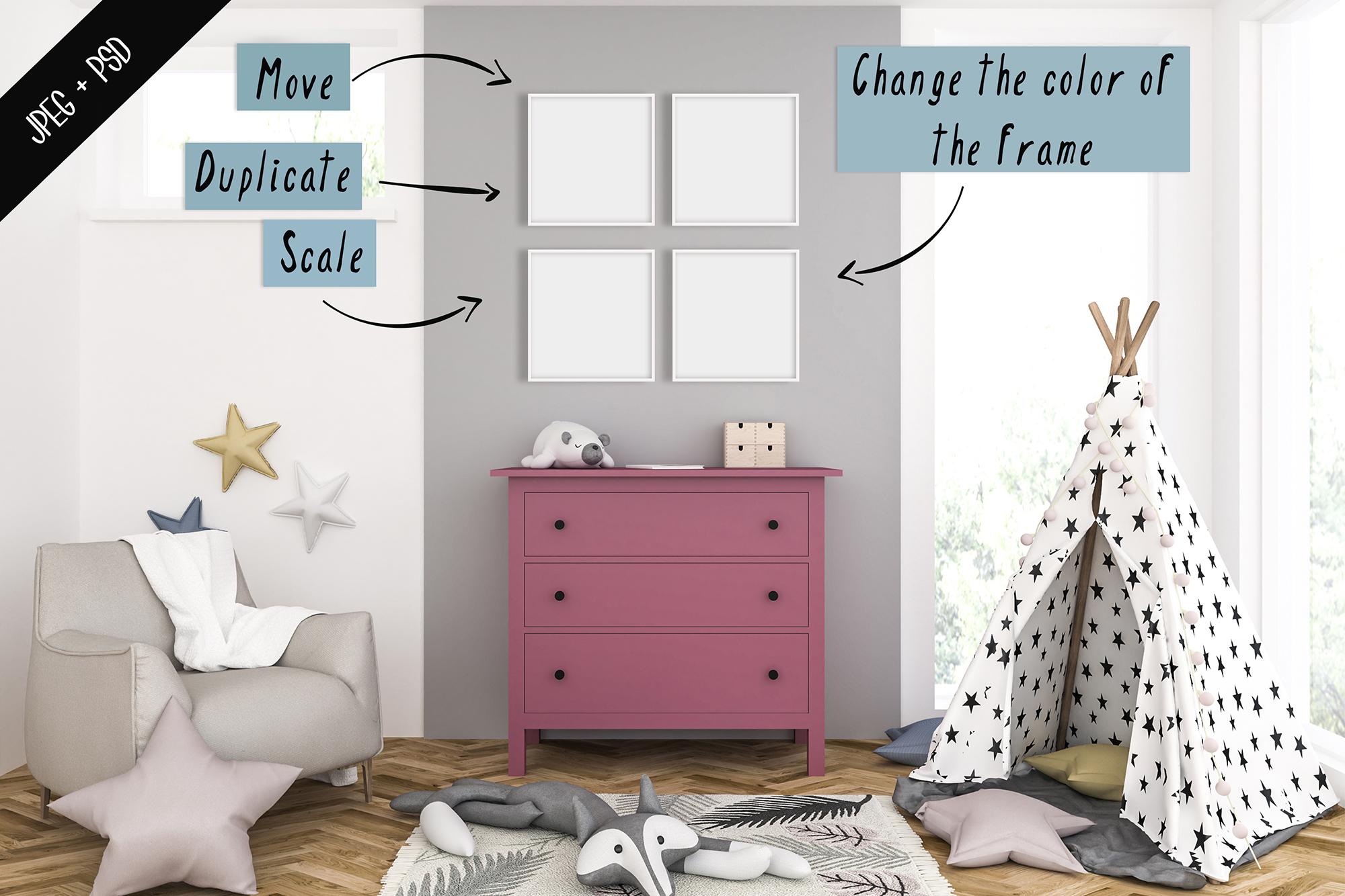 Frame mockup creator - All image size - Interior mockup example image 3