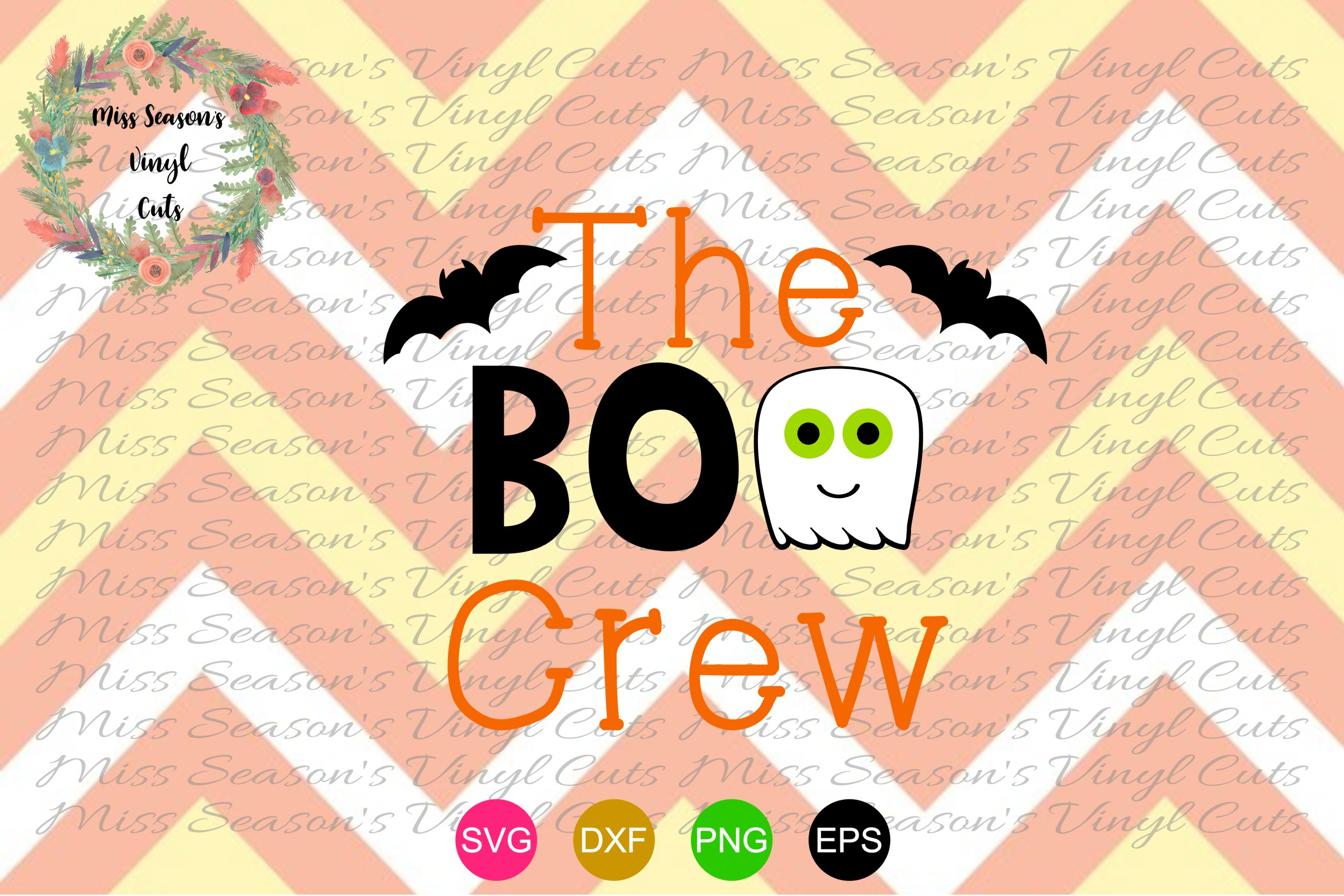 The Boo Crew Svg Dxf, Eps, Png Halloween Svg Dxf, Eps, Png example image 1