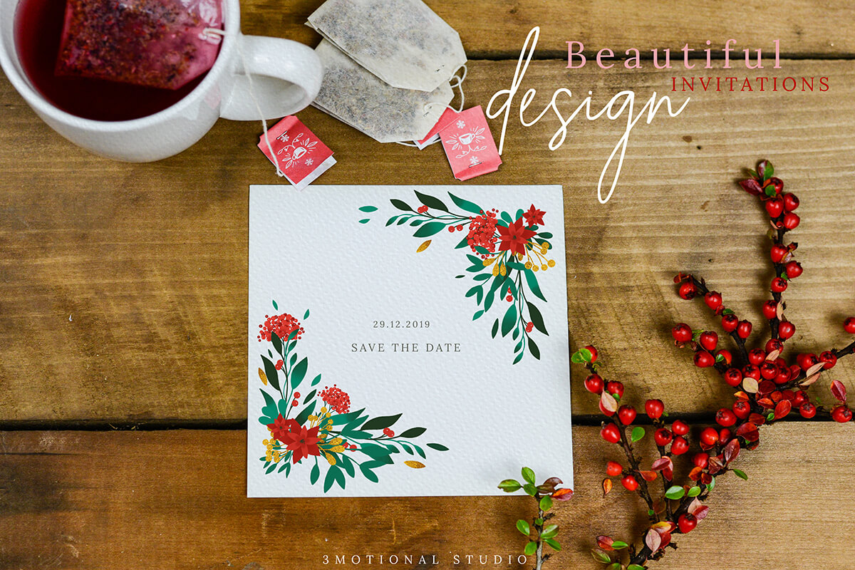 Merry Christmas Card Template 5x7 example image 6