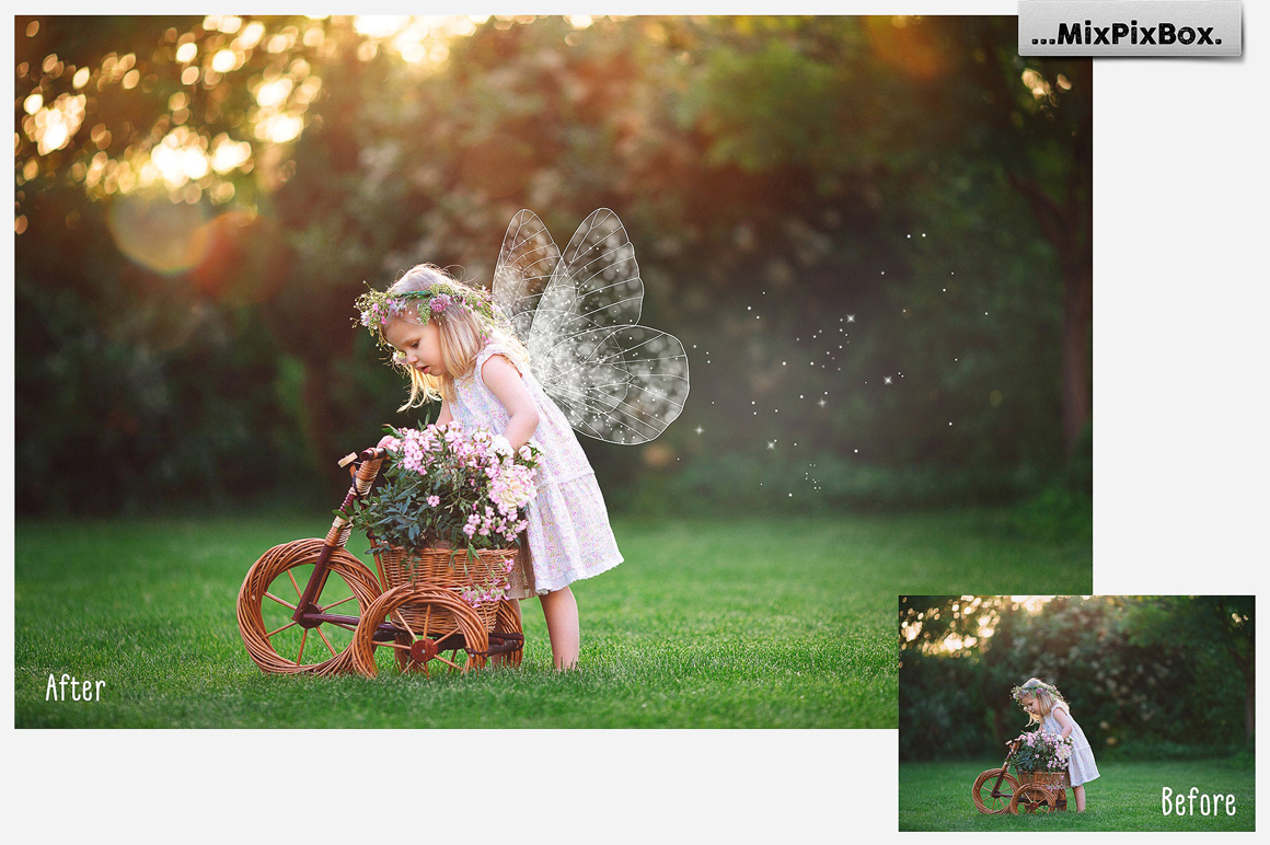Fairy Wings Photo Overlays example image 4