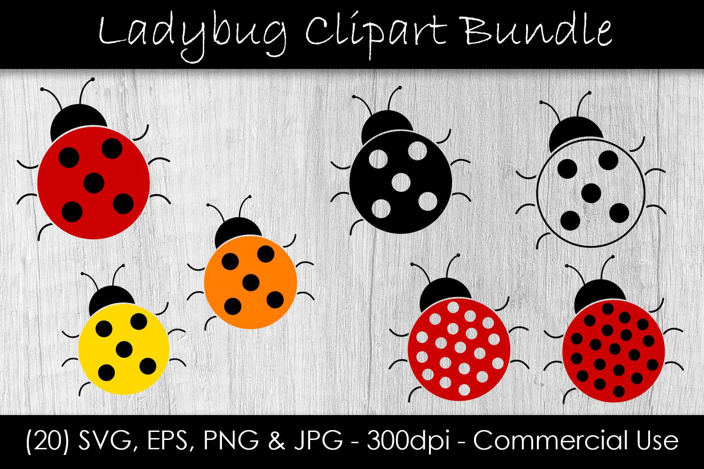 Ladybug SVG Bundle - Ladybug Vector Clip Art example image 1