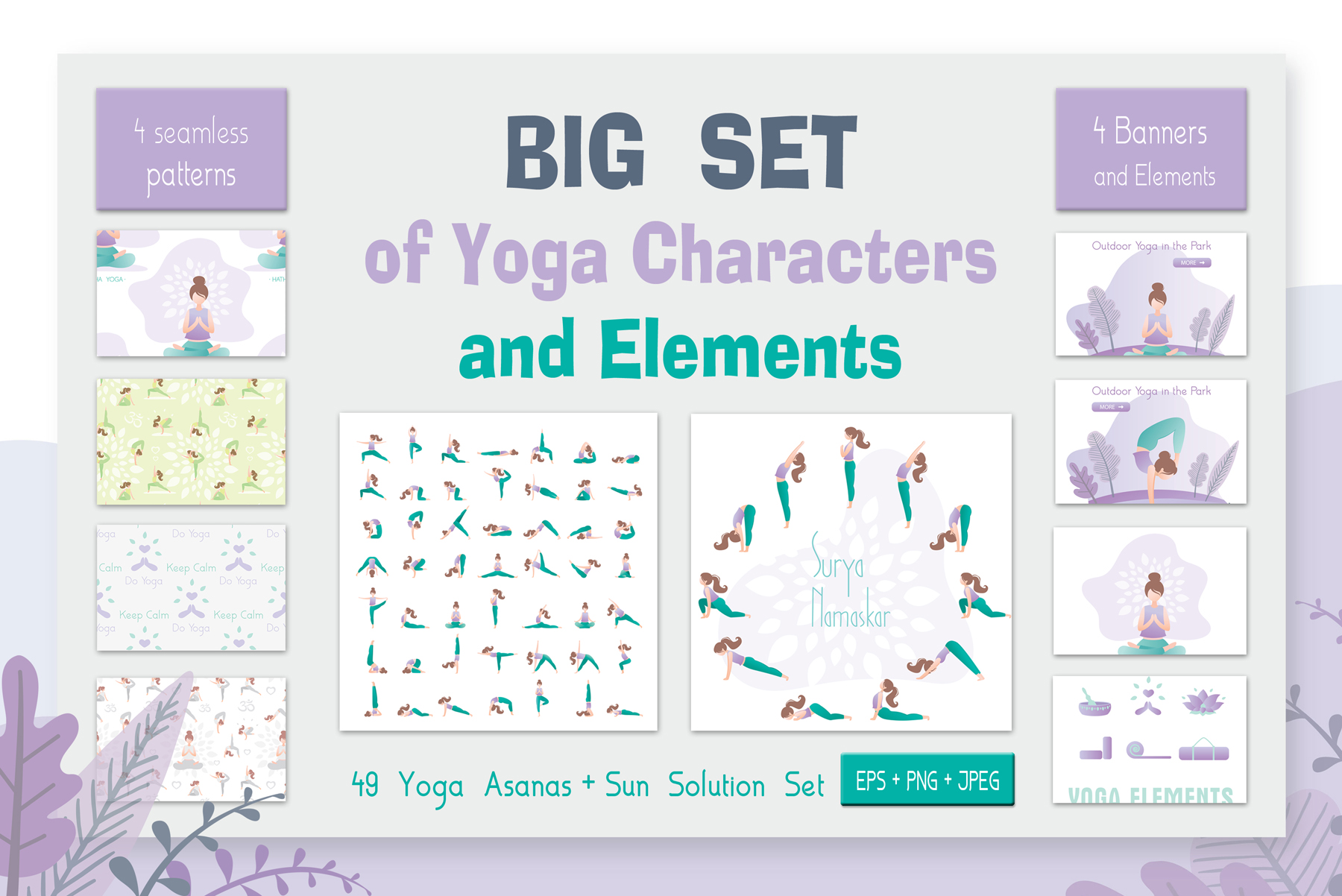 Huge yoga set in trendy style example image 1