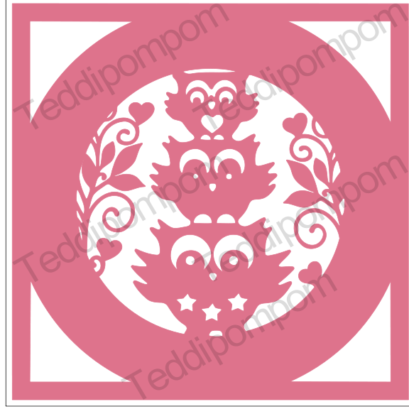 Owl Frame SVG PNG paper cutting file example image 1