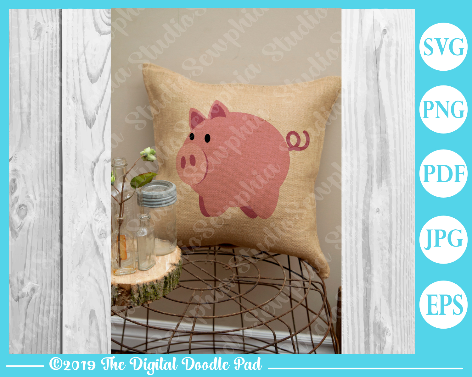 Two Piggies by Digital Doodle Pad example image 4