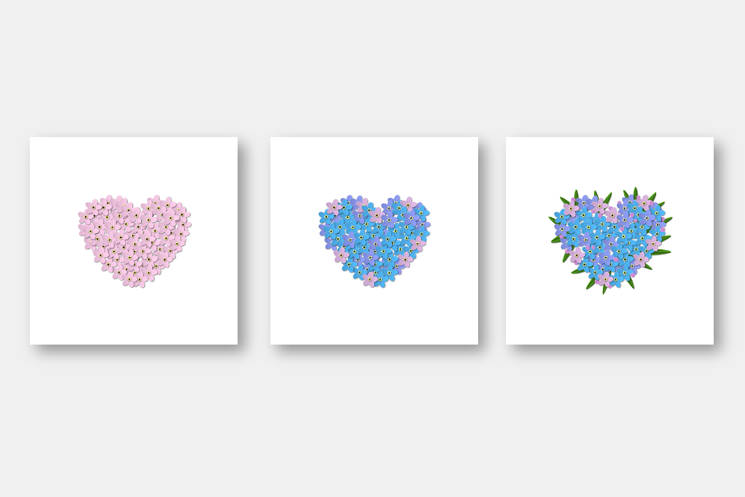 Forget-me-not hearts example image 2