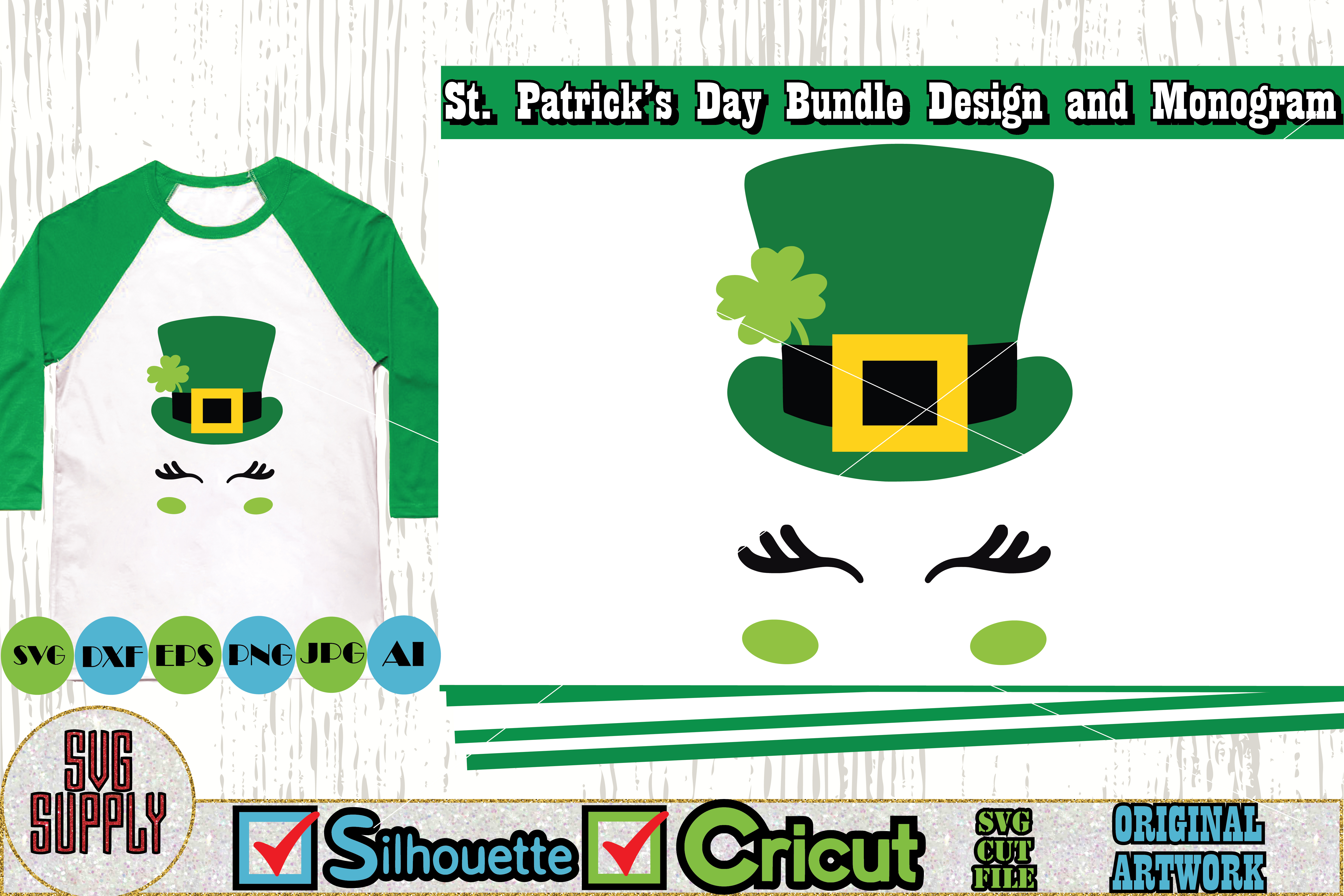 St. Patrick's Day SVG Cut File Set example image 3