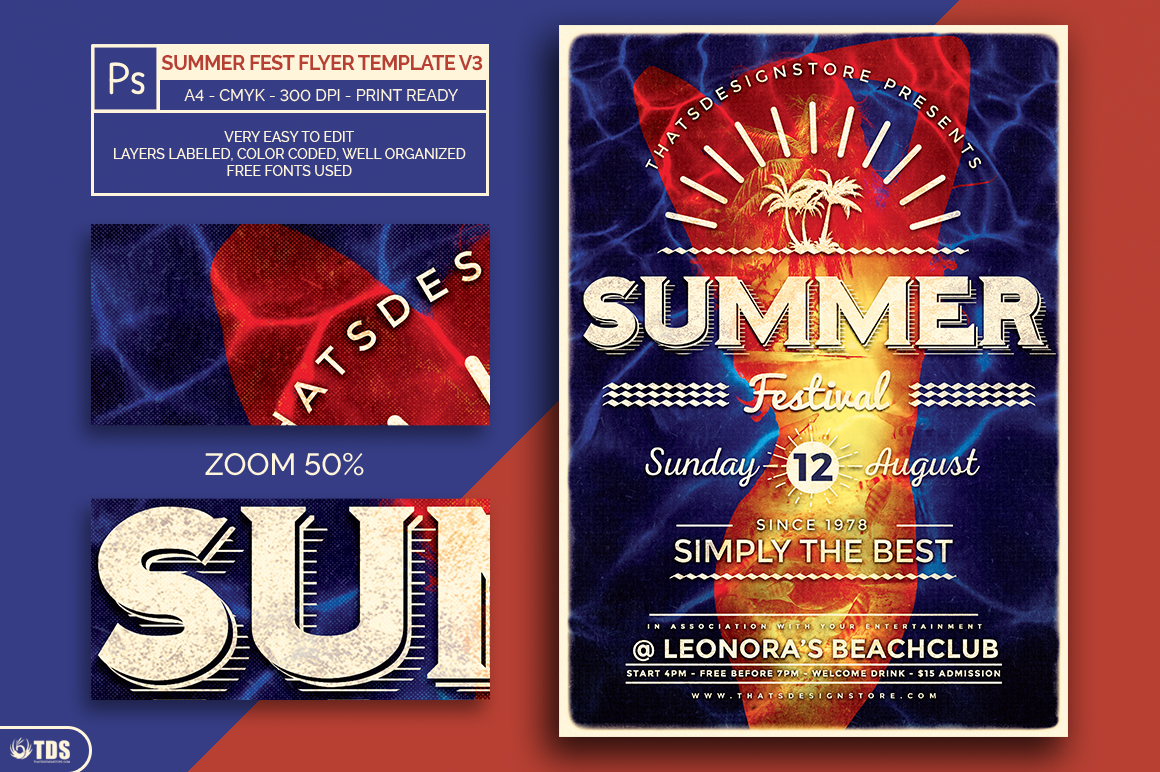 Summer Fest Flyer Template V3 example image 2