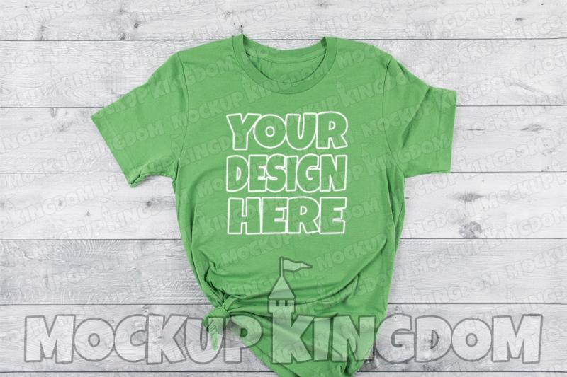 Unisex Crew Neck Shirt Mockup, Bella Canvas Mockup example image 1