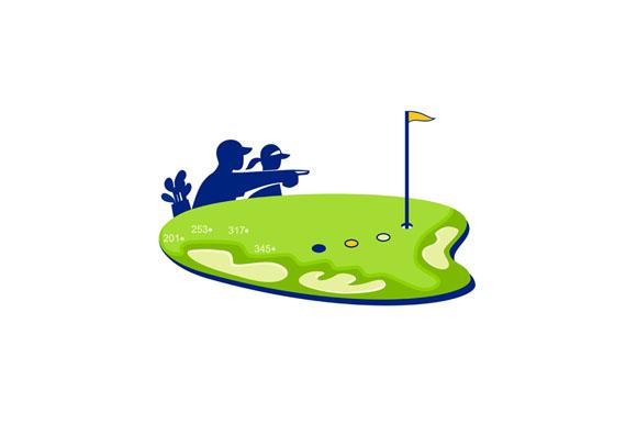 Golfer Caddie Golf Course Retro example image 1