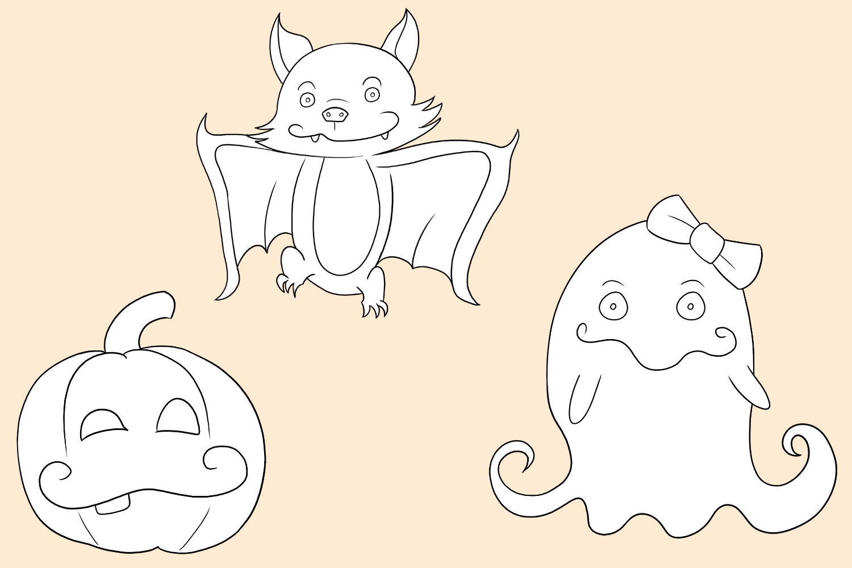 Cute Halloween Digital Stamps example image 3