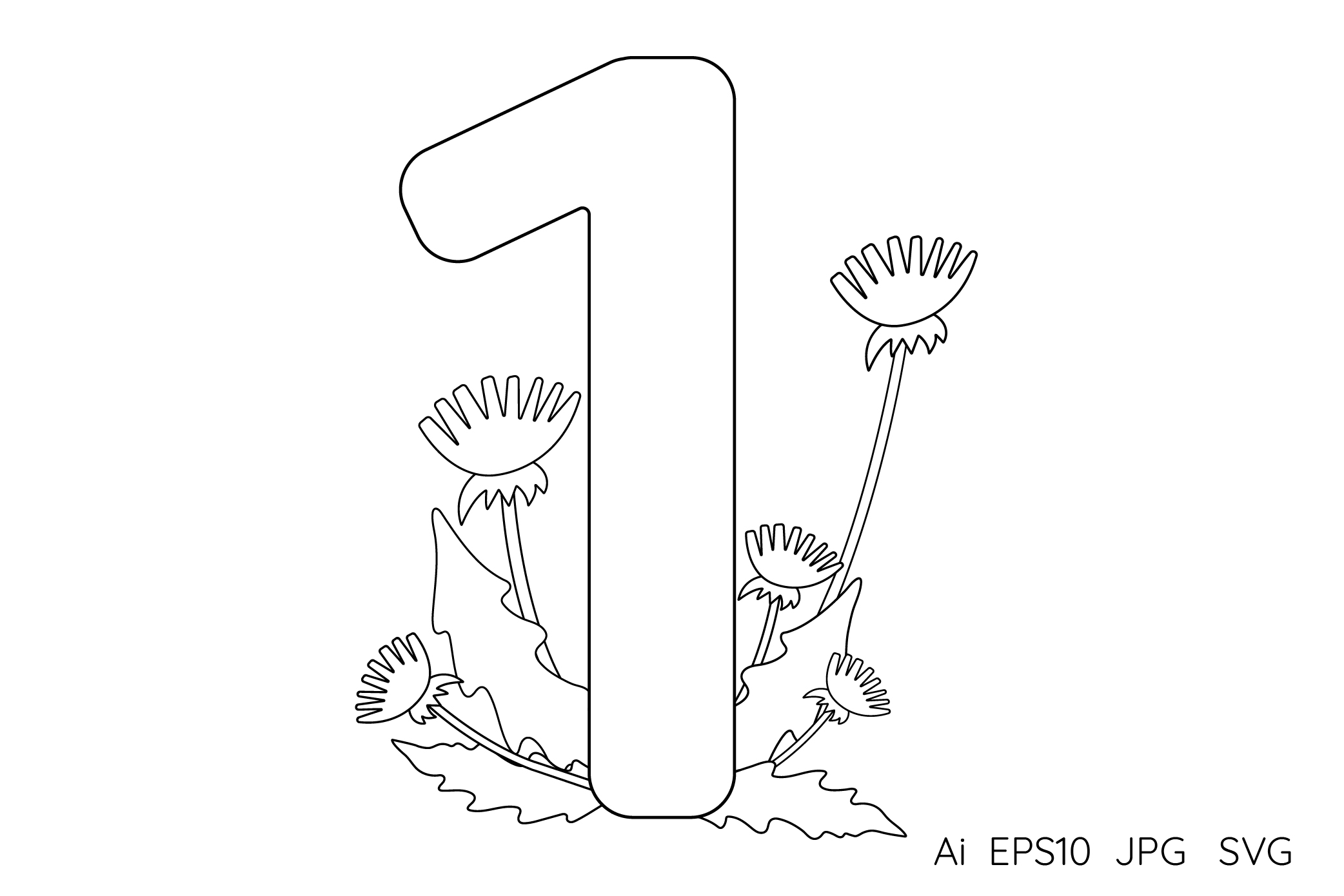 Numbers from 0 to 9. Coloring pages. example image 3
