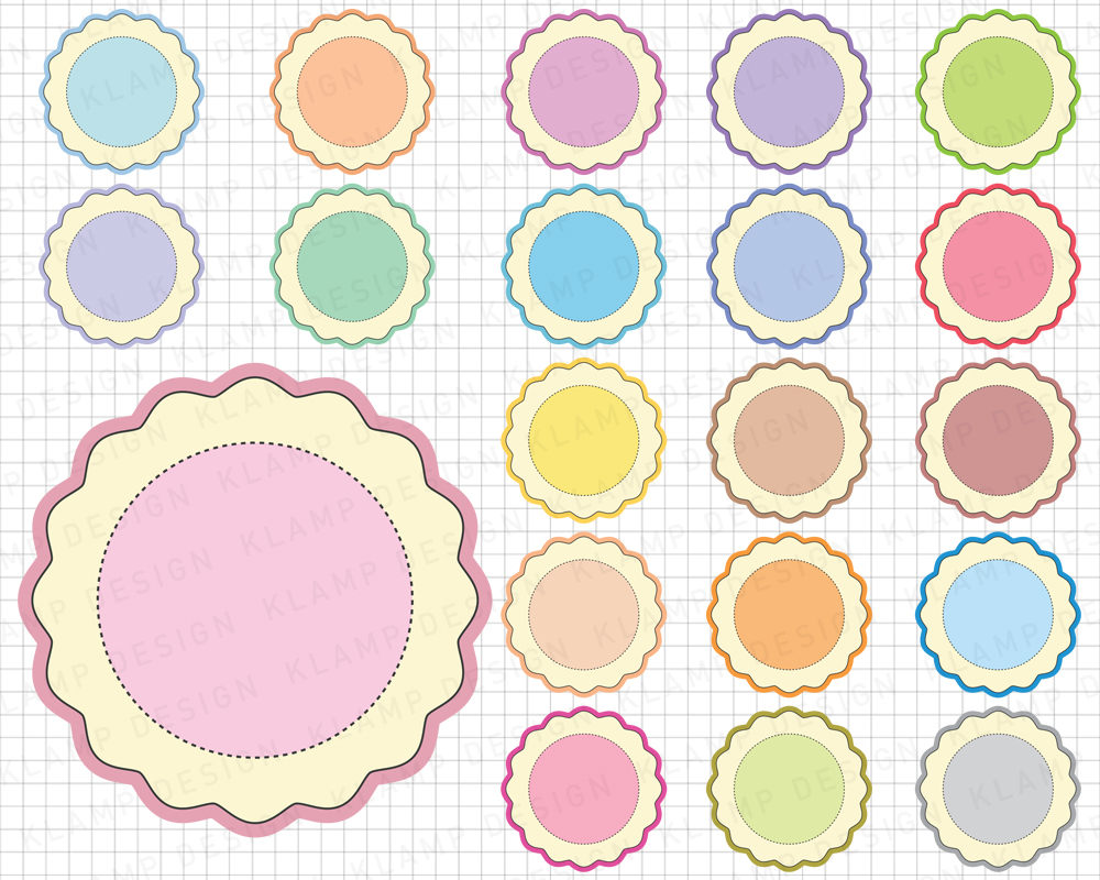 Labels Bundle Graphics and Illustrations / Frames Bundle example image 10