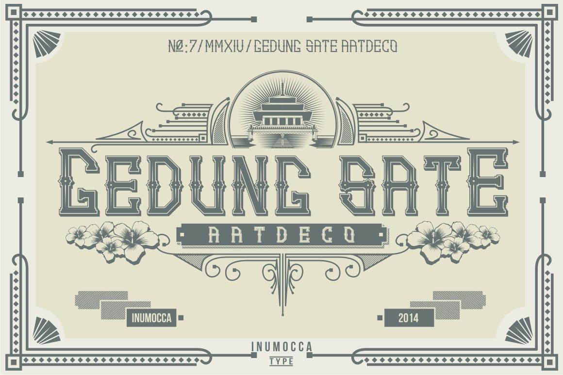 Artdeco (family font) example image 1