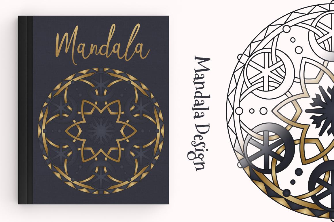 100 Christmas Mandala Ornaments example image 14