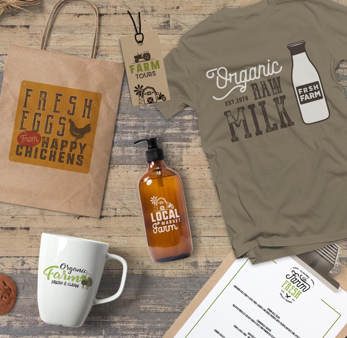 Organic Farm & Eco Food Badges example image 4