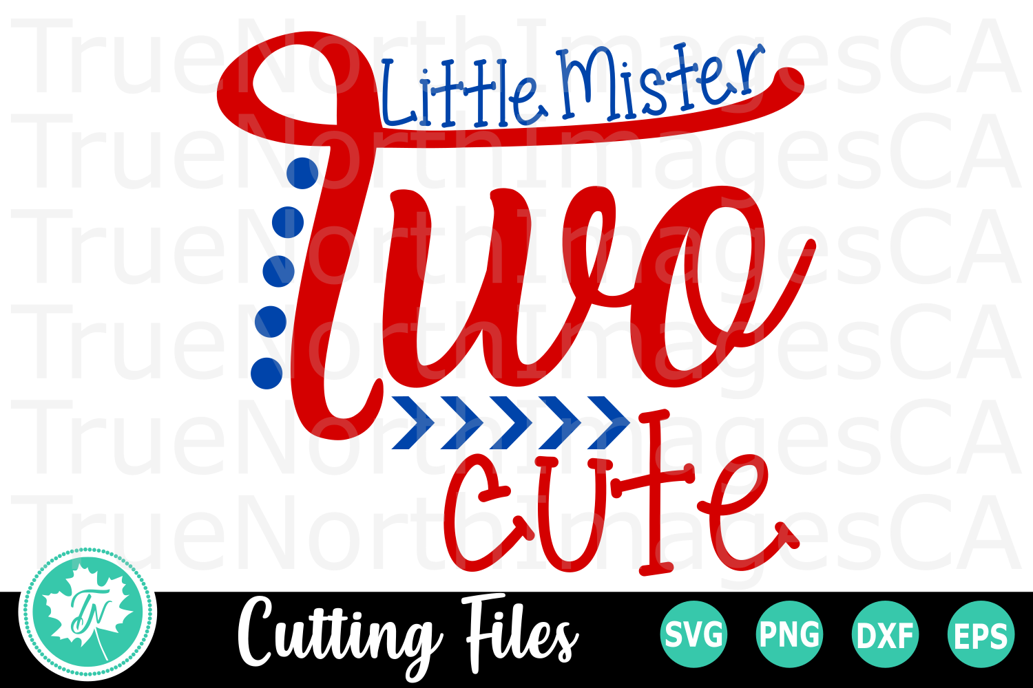 Little Mister Two Cute - A Second Birthday SVG Cut File example image 2