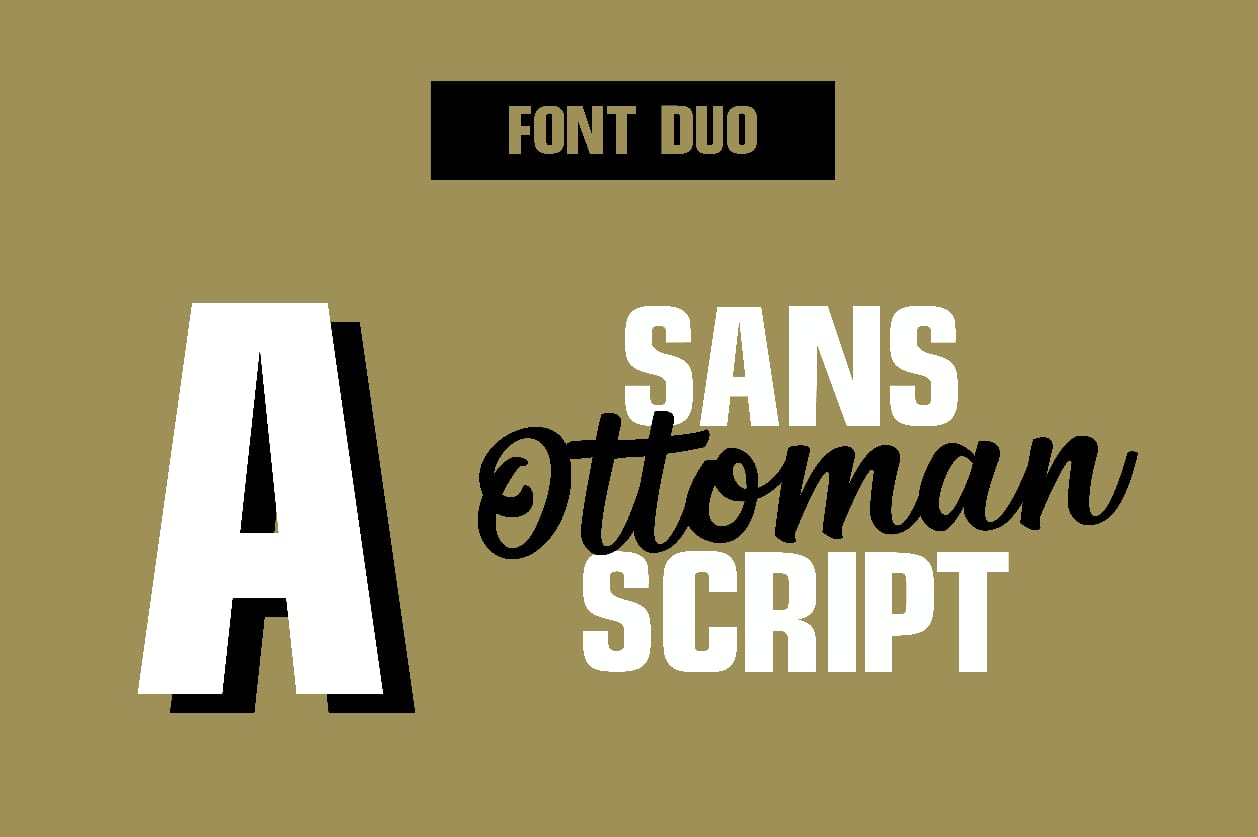 Ottoman Font Duo example image 7